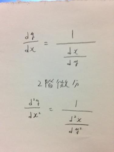 逆関数の2階微分 -逆関数の2階微...