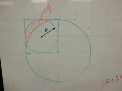 平面図形問題 円と円の交差部分面積 こんにちは先日友人