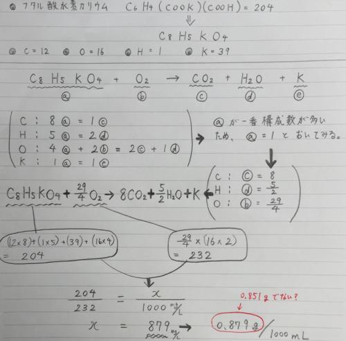 フタル 酸 水素 カリウム