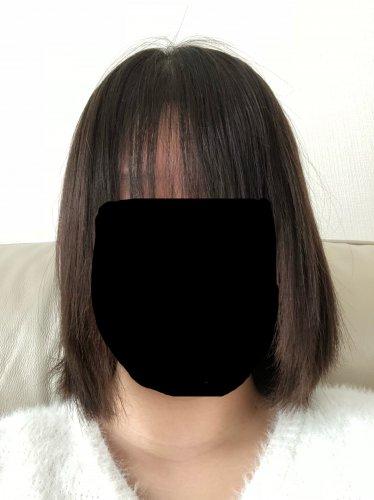 縮 毛 矯正 髪 結ぶ