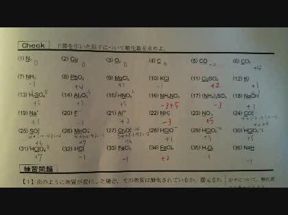【化学I】化学の酸化数のところで質問です。