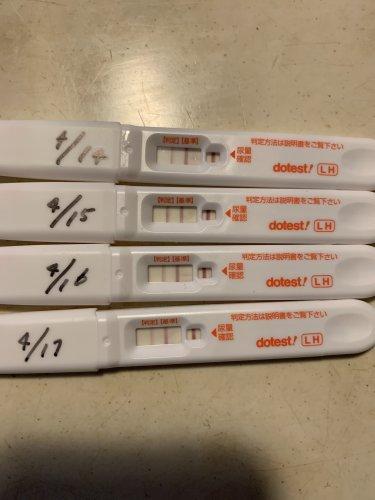 排卵検査薬で妊娠判定画像