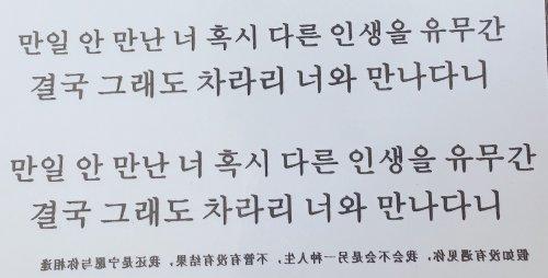 文章 韓国 語