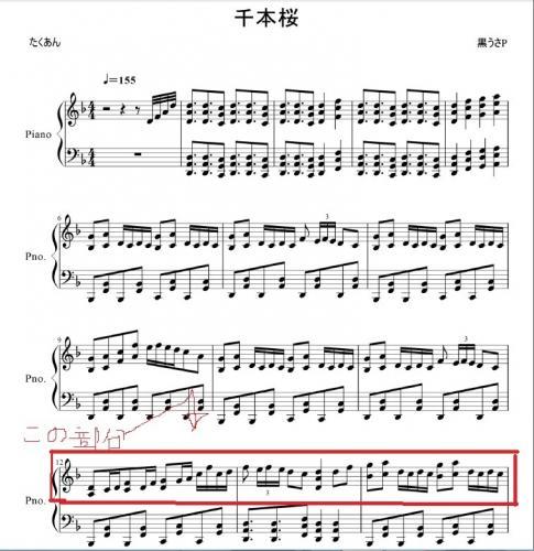 千本 桜 ピアノ 楽譜