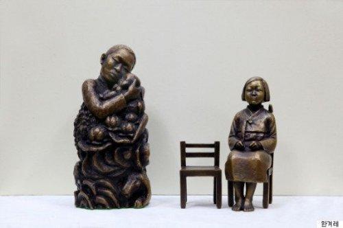 「韓国の平和の少女像を作った人たちの話に同」の質問画像