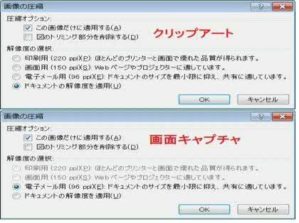 図の圧縮で 解像度の選択 ができません Powerpoint2010の図の圧縮に