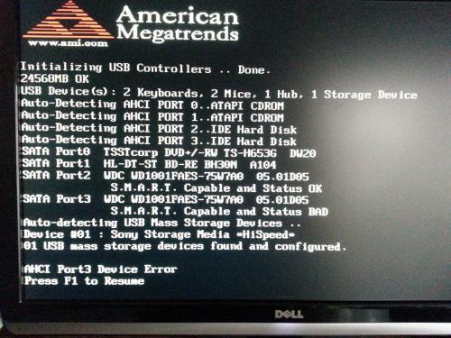 boot menu error - AHCI port 0 device error??? - Microsoft ...