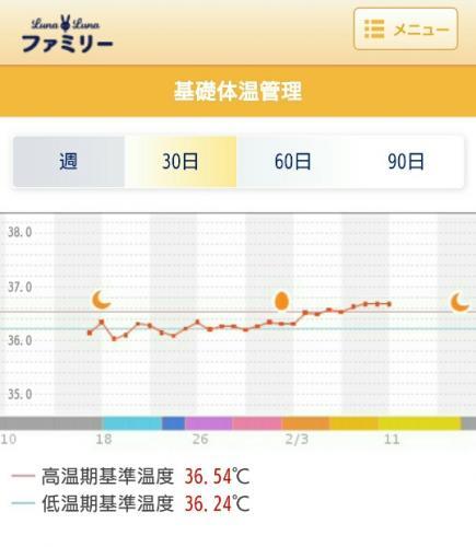 微熱 基礎体温