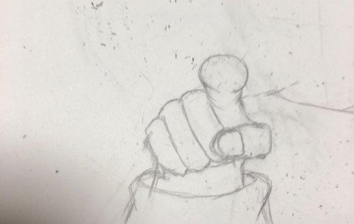 指さしてるイラストの正面描いてます アドバイスください