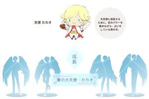 天使カカオは、バレンタイン当日の2月14日は大天使に成長!