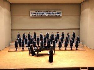 地元長崎県の聖和女子学院高等学校コーラス部と共演