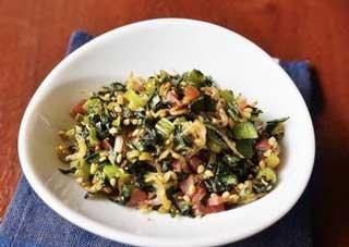 小松菜とカリカリ梅の炒飯