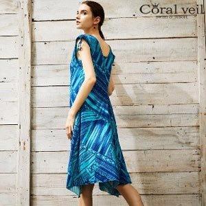 Coral veil/ショルダーリボンドレス3点セット\24,840)