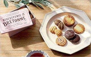 ビスキュイテリエ ブルトンヌ/限定ピンク缶のクッキー