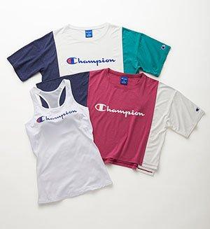 『チャンピオン』Tシャツ、ブラトップ