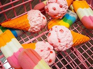 ショッピングカートに入った「食べられないアイスクリーム」